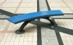 Color steel bench Stock Photo