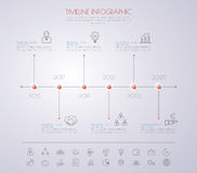 Color Step Design clean number timeline template/graphic or webs Royalty Free Stock Photography