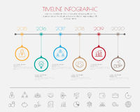 Color Step Design clean number timeline template/graphic or webs Royalty Free Stock Image
