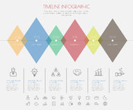 Color Step Design with icon timeline template/graphic or website Stock Photography