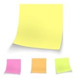 Color stick notes Royalty Free Stock Images
