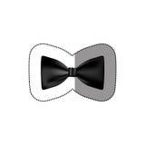 color sticker bow tie icon Stock Photos
