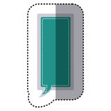 Color sticker large rectangle frame callout dialogue. Illustration Stock Images