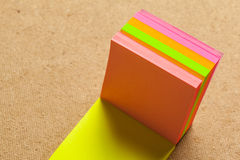 Color sticker notes Stock Images