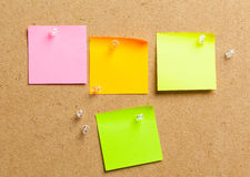 Color sticker notes Stock Image