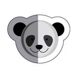 Color sticker with panda head and middle shadow. Illustration Stock Photos