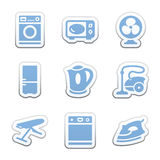 Color sticker set Stock Image