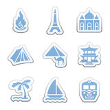Color sticker set Stock Images