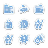 Color sticker set Royalty Free Stock Photography