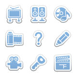 Color sticker set  Stock Photography