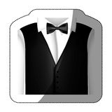 Color sticker shirt with bow tie and waistcoat Stock Photography