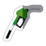 Color sticker silhouette with gasoline pump nozzle Royalty Free Stock Photo
