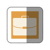 Color sticker square with executive suitcase icon Stock Images