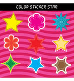 Color sticker star Stock Images