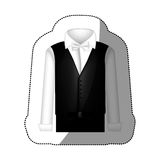 Color sticker suit with shirt, waistcoat and pants Stock Photos