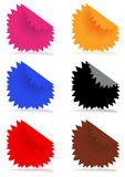 Color stickers Stock Images