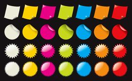 Color stickers Stock Photography