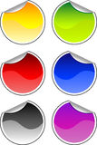 Color stickers Stock Photos