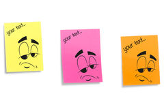 Color stickers displaying face expression Royalty Free Stock Photo