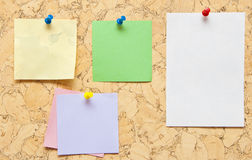 Color sticky notes Stock Photo