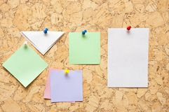 Color sticky notes Royalty Free Stock Photo