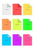 Color sticky notes set Royalty Free Stock Photo