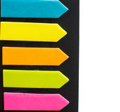 The color sticky notes Stock Photo