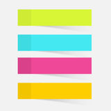 Color sticky notes Stock Photos