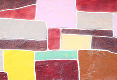 Color stone wall background Royalty Free Stock Photo