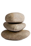 Color stones (zen) isolated on white background Royalty Free Stock Image
