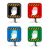 Color stop signs Stock Image