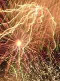 Color Storm. Mayhem of Creation. The 2005 British Musical Firework Championships royalty free stock photography