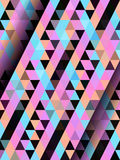 Color straight triangle pattern Royalty Free Stock Images