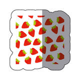 Color strawberry fruit background icon. Ilustration design Stock Photo