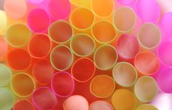 Color straws Royalty Free Stock Photo