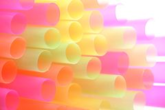 Color straws Royalty Free Stock Image