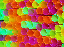 Color Straws. Close-up of colored drinking straws Stock Photos