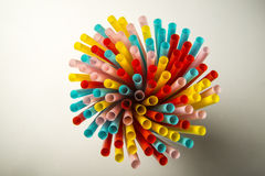 Color straws Stock Photography