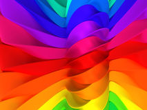 Color stripe abstract background. 3d illustration Royalty Free Stock Photo