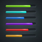 Color striped progress bar Stock Photography