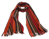 Color striped scarf Royalty Free Stock Photo