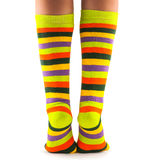 Color striped socks Royalty Free Stock Photography