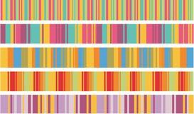 Color stripes. Combination to use as a backround for any design Stock Image