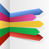 Color stripes arrows Stock Image