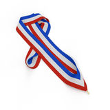 Color stripes medal ribbon , isolated on white. 3D illustration Royalty Free Stock Image