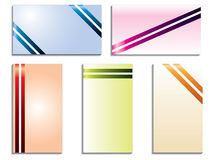 Color stripped business cards Royalty Free Stock Photo
