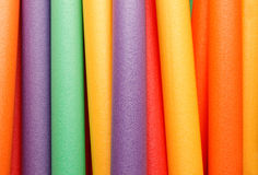 Color strips from polyfoam Stock Photo