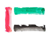 Color strokes of UAE flag Royalty Free Stock Photo