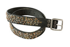 Color studs leather belt Royalty Free Stock Photos