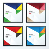 3 color of 4 Styles template triangle set Stock Images